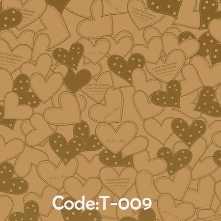 کاغذ-کادو-کرافت-طلاکوب-کد-t09